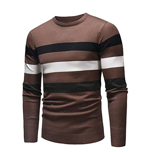 MEIbax Herren Pullover Slim Jumper Strick Sweatshirts Langarm Wollpullover Shirt Oberteile Tops