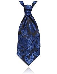 Foulard-Cravate Jacquard Victorien Bleu