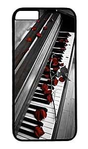 Coque Iphone 6 - Piano de musique roses rouges - Ref 520