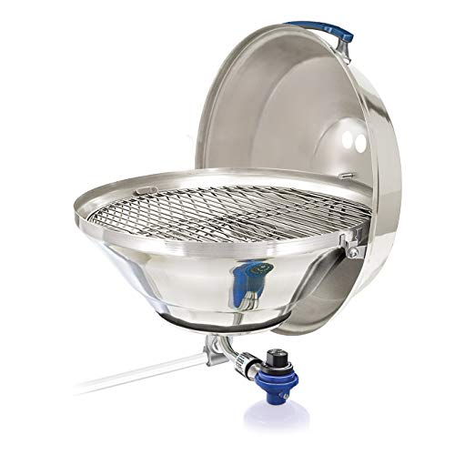 Magma A10-215 Marine Kettle Gas Grill mit Klappdeckel, Party Größe - Tabletop Gas Grill