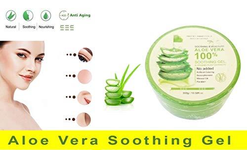 Aloe Vera Soothing Gel (Aloe Vera Gel - 100% Organische und Vegan Soothing Gel 300 gr für Gesicht, Haare und Körper   Premium Qualität   Aloe Plus von Secret Essentials)