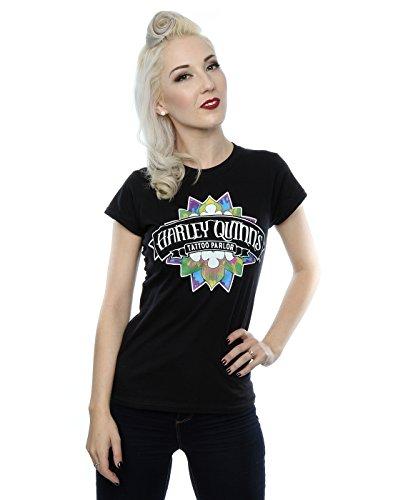 Suicide Squad mujer Harley Quinn Tattoo Parlour Camiseta X-Large Negro