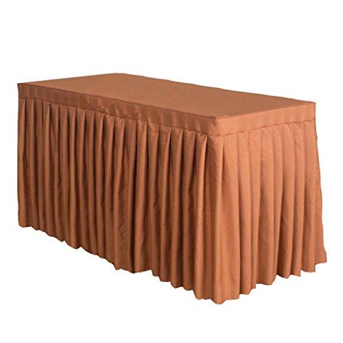 Homyl Jupe Tissu Housse De Table De Banquet En Polyester Festive Banquet De Mariage Maison - Kahki