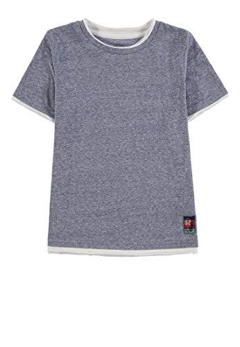 TOM TAILOR Kids Jungen solid T-Shirt, Blau (Dress Blue 3043), 92 (Herstellergröße: 92/98) - Blauer Kleinkind-t-shirt