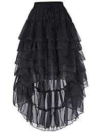 sale retailer a0239 db6f6 Belle Poque Women s Gothic Steampunk Victorian Amelia Ruffled Cake Skirt 6  Styles