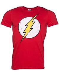 Distressed DC Comics Flash Logo Herren T Shirt