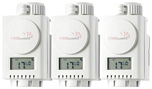 Smart Ventil (CASAcontrol Funk-Heizkörperthermostat für Premium, 3er-Set)