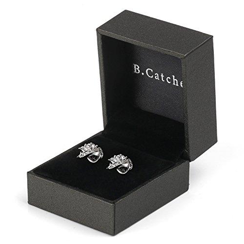 43eb6c6ec B.Catcher Earings for Woman Silver Earrings Studs Cubic Zirconia Gemini Sets