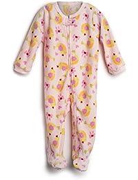 Elowel Pijama para bebe nina, (talla 6 m-5 anos), polar