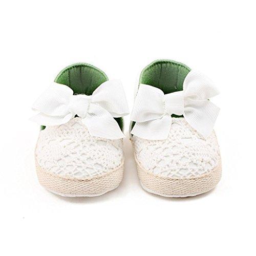 Baby erste 1Paar Schuhe Schmetterling Wei Mode Wanderer Fr眉hling weiche Igemy Schuhe Sole M盲dchen Knoten qwaAUYXY