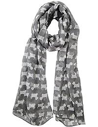 Grey Scottie Westie Highland Terrier Animal Dog Scarf Ladies Fashion Scarves