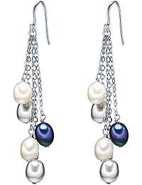 Valero Pearls - Pendants d'oreilles - Perles de culture d'eau douce - Argent sterling 925 - Bijoux de perles, boucles d'oreilles, bijoux en argent - 60201338