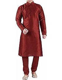 Men's Maroon Dupioni Silk Kurta Pyjama,kurta pajama for men, kurta pajama for men party wear,Modi cut