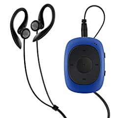 Idea Regalo - AGPTEK G02 Mini-Clip Lettore MP3 8 GB con Radio FM, Blu