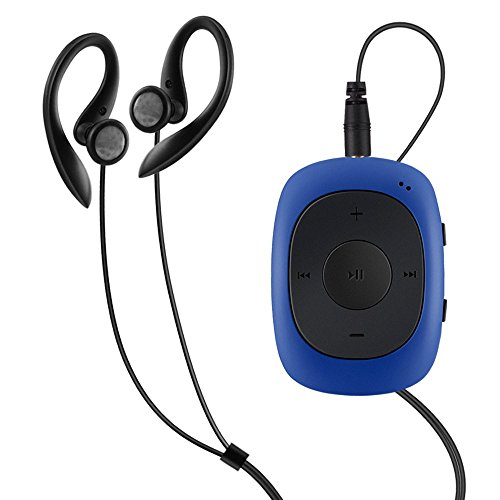 AGPTEK G02 Mini-Clip Lettore MP3 8 GB con Radio FM, Blu