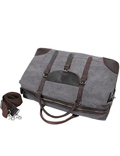 Menschwear Herren Cross-body Tasche Hand Handle Tasches Schulter Tasche Kaffee Grau