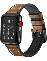 45f95060b04d Amazon.es  correa piel apple watch - Correas para relojes ...