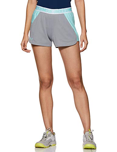 Under Armour Damen Play Up Shorts 2 Kurze Hose, grau(True Gray Heather / Blue Infinity / Blue Infinity (029)), L