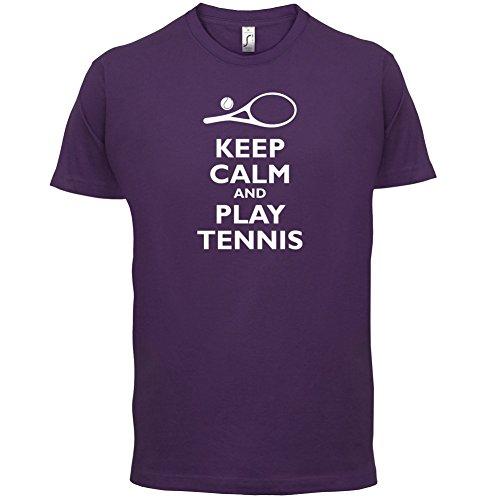 Keep Calm and Play Tennis - Herren T-Shirt - 13 Farben Lila
