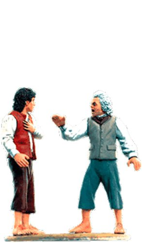 Lord of the Rings Señor de los Anillos Figurine Collection Nº 127 Bilbo (Possessed) & Frodo 1