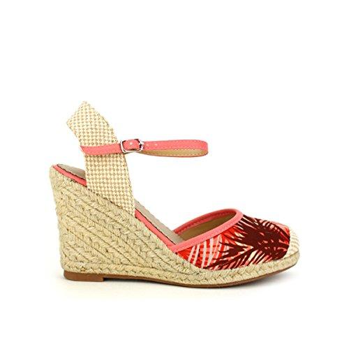 Cendriyon, Compensée Corail Mode HAWAIS Chaussures Femme Corail