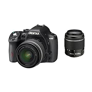 Pentax K-50 DSLR Camera with DAL 18-55mm WR and DAL 50-200mm WR Lens Kit - Black (16MP, CMOS APS-C Sensor) 3 inch LCD