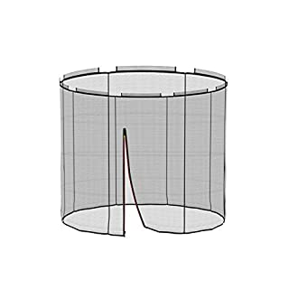 Ampel 24Deluxe Safety Net Ground Trampoline Diameter 72cm Garden Trampoline Replacement Net for 6Poles Replacement Mains Included | Tear & UV Resistant