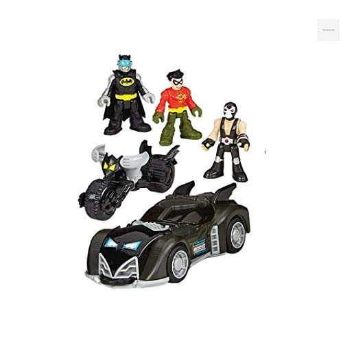 Imaginext Fisher Price - DC Súper Amigos dc súper amigos Regalo Set- Incluye Batman, Robin & Bane Mini Figuras, 3… 2