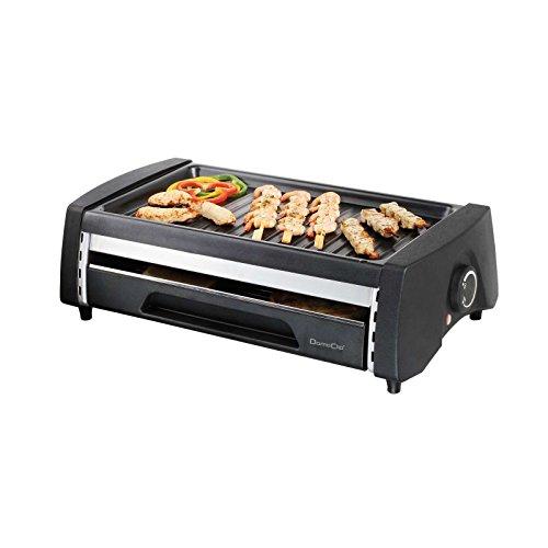 2in1 Elektrogrill und Mini Ofen Brotröster Tischgrill Multigrill Doppeldecker (Doppelte Grillfläche, Zerlegbar, Grillrost, Camping Grill, Tisch Röster)