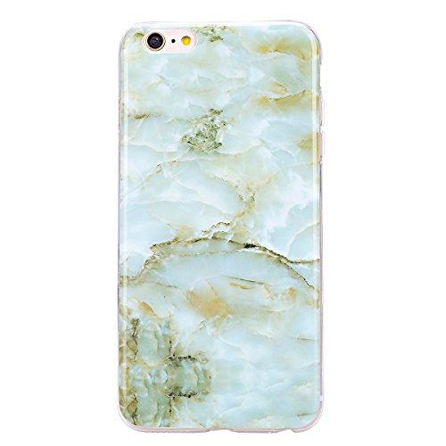 iPhone 8 Hülle,iPhone 7 Hülle,iPhone 7/iPhone 8 Schutzhülle Marmor,SainCat Silikon Hülle [Kratzfeste, Scratch-Resistant] Tricolor Marmor Muster Handyhülle Ultra dünne Silikon Hülle Schutzhülle Durchsi Grüner Marmor