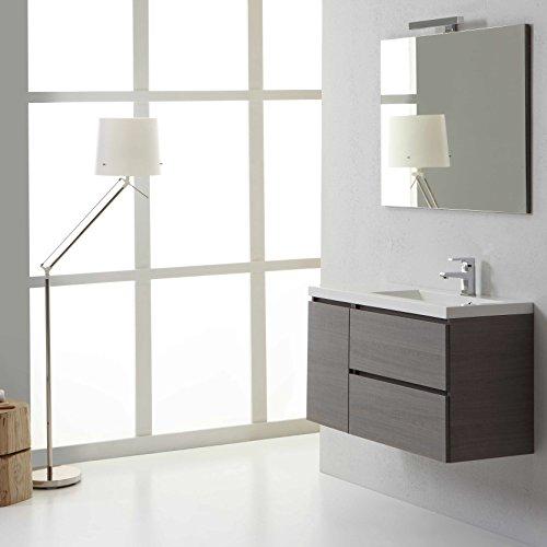 Moderno mobile bagno sospeso 90 cm manahattan destro