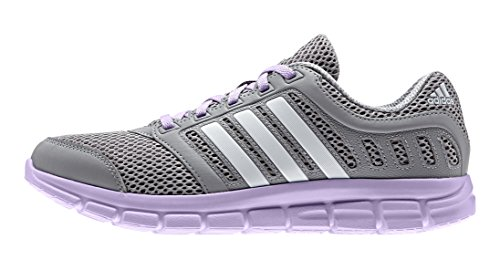 adidas Breeze 101 2, Chaussures de Running Compétition Femme Gris - Grau (Mid Grey/Ftwr White/Purple Glow)