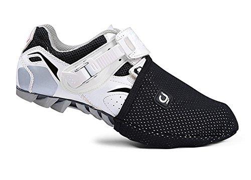 West Biking - Copripunta per scarpe da ciclismo, accessorio per abbigliamento da ciclismo da uomo, protegge le dita del piede, design per ciclismo su mountain bike., donna Bambino Uomo, Black, L