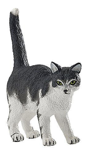 Manufacturer: Papo;Name: Black and White Cat;Model Number: 54041;Size (approx.): 6 x 1.6 x 4 cm;Recommended Age: 3 +