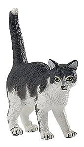 Papo 54041 - Figura de Gato, Color Negro y Blanco