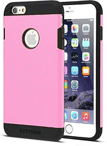 EZZYMOB - Carcasa muy resistente, a prueba de golpes, para iPhone 6, iPhone 6S, iPhone 6 Plus en muchos colores, plástico, rosa, iPhone 6 Plus 5.5 inch