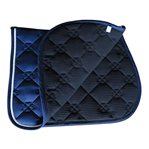 perfeclan Pferd Sattelkissen Sattelunterlage aus Baumwolle für Reiten - Blau