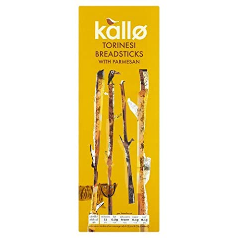 Kallo Parmesan Torinesi Breadsticks 125 g (Pack of 12)