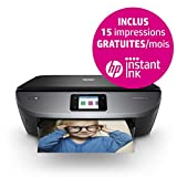 HP Envy Photo 7130 Imprimante Multifonction jet d'encre couleur (14ppm, 4800 x 1200 ppp, USB, Wifi, Instant Ink)