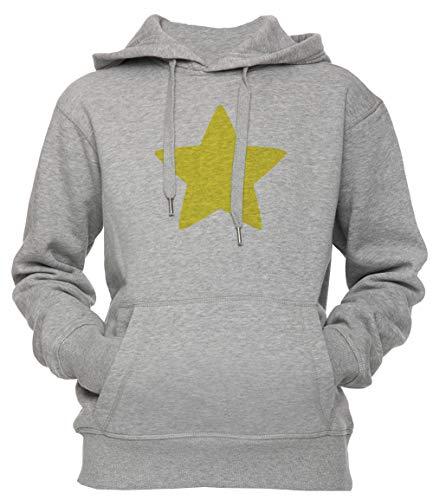 es Star Unisex Herren Damen Kapuzenpullover Sweatshirt Pullover Grau Größe S Unisex Men's Women's Hoodie Grey Small Size S ()