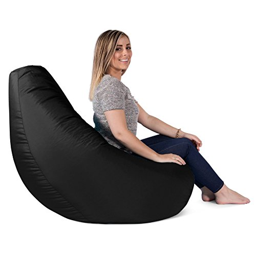 Big Bertha Original, Gaming Sitzsack Sessel Mit Passendem Hocker, Schwarz