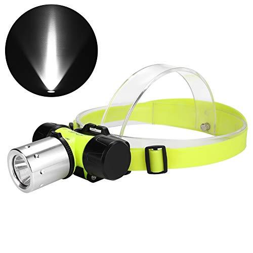 koulate Phare de plongée à LED, tête de Lampe éblouissante Haute Puissance T6, Angle réglable, Phare étanche pour la Chasse en Milieu extérieur