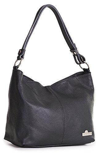 LiaTalia einzigartige italienische Echtledertasche mit verstellbarem Schultergurt Mittelgroße Hobo Tasche mit Staubschutztasche - Emmy (Handtasche Medium Hobo)