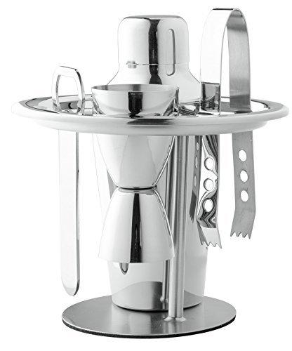 Chefs Star Professionelles 6-teiliges Edelstahl-Bar-Set, normal - Double-bottom-line