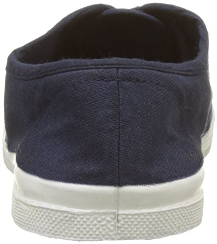 Bensimon Tennis Lacet Enfant, Baskets Basses Fille Bleu (Marine)