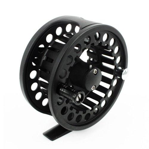 """Andux Aluminium Fliegenrolle angeln fly fishing reel 3 3/8 """"große Laube 85mm 7/8 FL-03 Schwarz"""