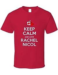 Keep Calm and Love Rachel Nicol Canada Swimming 100 M Breaststroke Olympics T Shirt XXXX-L