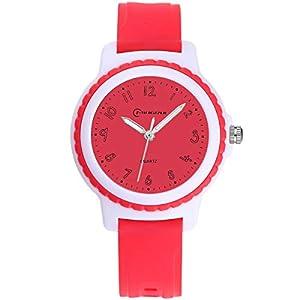 Kinderuhren Jungen Mädchen, Kinder wasserdichte Analoge Uhr Weiches Gummiband Einfach zu Lesen Dial Zeitunterricht Armbanduhr Kinder