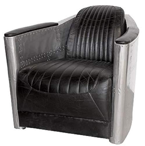89 cm Casa Padrino Luxus Leder Sessel Vintage Braun 100 x 100 x H Echtleder Möbel