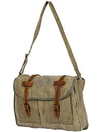 Priti Vintage Design Washed Canvas Hand Paint Handbag Office Handbag Cross Body Bag Messenger Cross Body Shoulder... - B078ZCDWM1